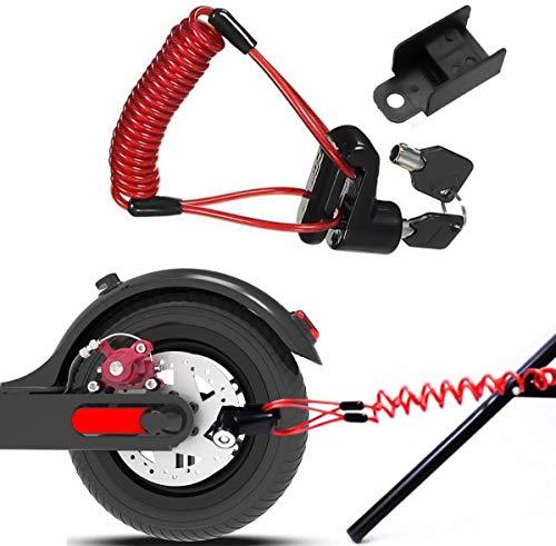 Scooter Elettrico Antifurto in Acciaio Wire Lock Freni,Blocco antifurto per Freno a Disco in Filo di Acciaio per Xiaomi Mijia M365,Adatto per la maggior parte degli scooter (nero)