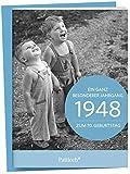 1948 - Ein ganz besonderer Jahrgang Zum 70. Geburtstag: Jahrgangs-Heftchen mit Kuvert