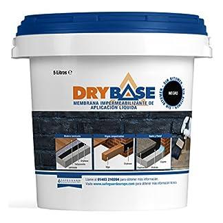 Drybase Membrana Líquida Contra la Humedad (5L Negro) – Pintura-Membrana líquida Contra la Humedad (DPM)