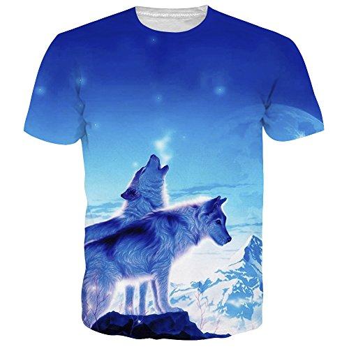NEWISTAR Unisex 3d druckten Sommer-beiläufige kurze Hülsen-T-Shirts T-Stücke (Kurze Herren T-shirts)