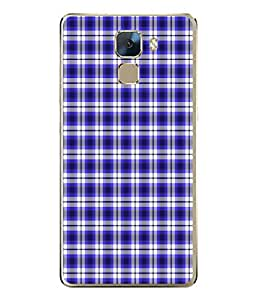 PrintVisa Designer Back Case Cover for Huawei Honor 7 :: Huawei Honor 7 (Enhanced Edition) :: Huawei Honor 7 Dual SIM (Blue Checks Design)