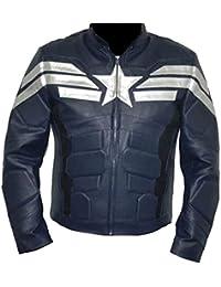 Classyak Veste de cuir véritable pour homme America Fashion, de qualité  supérieure 242718aef54a