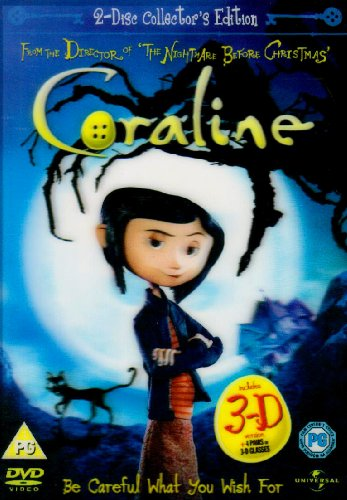Coraline - 2 Disc Limited Edition  Includes the 2D and 3D Version and 4 Pairs of 3D Glasses   DVD