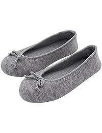 HomeTop - Zapatillas de estar por casa de algodón para mujer