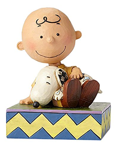 Peanuts by Jim Shore Happiness Is Snuggling (Charlie Brown With Snoopy)