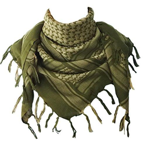 Explore Land 100 % Baumwolle militärische Shemagh taktische Wüste Keffiyeh Schal wickeln (Foliage) (Shemagh Wüste Schal)