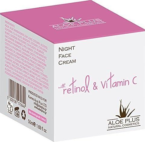 Night Cream Moisturiser For Face & Neck - With Aloe