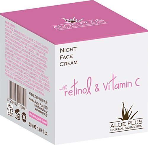 Aloe Plus Night face Cream 50ml with 100% organic aloe and retinol & Vitamin C (Damen-crusher)