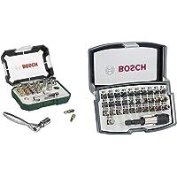 Bosch 26tlg. Schrauberbit- und Ratschen-Set (Extra harte Qualität, Zubehör Bohrschrauber und Schraubendreher) & 32tlg…