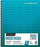 Grumbacher Mixed Media Papier Pad mit in & Out Seiten, 90Lb./185gsm, 17,8x 25,4cm, Seite verkabelt, je 50Blatt/Pad, 1weiß, 26460700613 11 x 14 Inches weiß