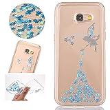 Sycode Lusso Trasparente Glitter Blu Fairy Fata Morbida Silicone Protezione Case Cover per Samsung Galaxy A5 2017