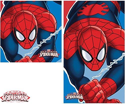 2 tgl Handtuch Set - Marvel Spiderman - Handtuch/Gesichtstuch und Waschlappen