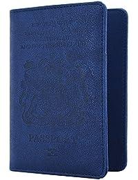 WantGor Cartera para pasaporte (azul)
