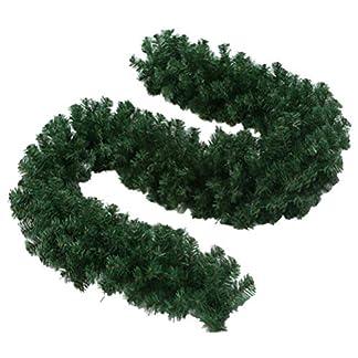 BESTOYARD Guirnalda de Navidad Artificial Verde Decoración Navideña 270x28cm