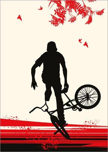 Posterlounge Holzbild 90 x 130 cm: BMX im Herbst von Editors Choice