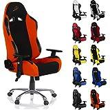 RACEMASTER Racing Bürostuhl RS Series, Bezugwahl Stoff oder Kunstleder, Farbwahl, viele Einstellmöglichkeiten
