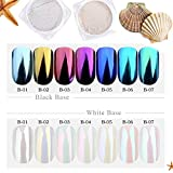 Full Beauty 1g Shinning Aurora Magic Mirror Chrome Nail Art Glitter Powder Colorful Pigment Flakes Dust Decoration Manicure Tips - Any Three Colors
