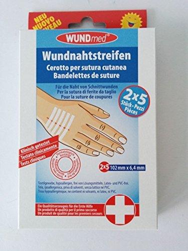 Wundnahtstreifen 6,4x102 mm, 2X5 St