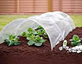 Garden Mile 1.5m m Polytunnel Cloche Mini Garten Gewächshaus Sämling Propagator Pflanze Abdeckung Frost Schutz 1.5m m x 45cm x 45cm