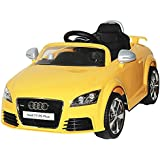 Baybee Officially Licensed Audi TT RS Plus Battery Operated Sports Car With MP3 Player | Parental Remote, Seatbelt Kids Car/ Children Car / Kids Cars To Drive / Baby Car / Electric Car For Kids ( Yellow )