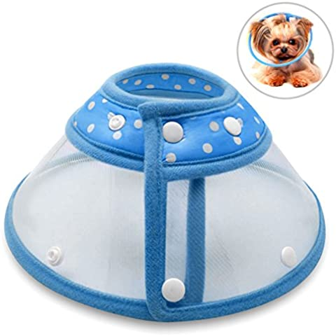 Recovery Collar Cone, PETBABA Clear Padded Elizabethan Collar for Puppy