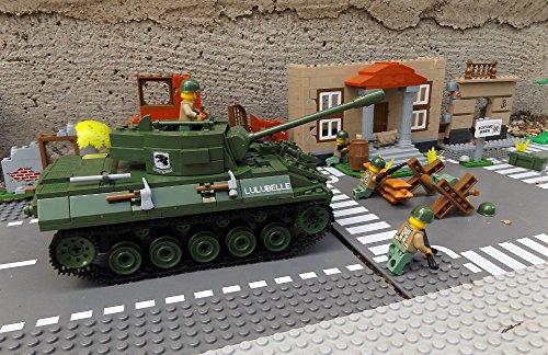★ World of Tanks 3006 – Bausteine US ARMY Panzer, 465 Teile, leichter Jagdpanzer M18 Hellcat, inkl. custom US ARMY Soldaten aus original Lego© Teilen ★ - 6
