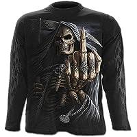 Spiral–Bone Finger Unisex maglietta maniche lunghe nero