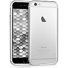 kwmobile Bumper para Apple iPhone 6 / 6S - Funda antichoques de aluminio y TPU silicona- Cover con protección de marco en plata