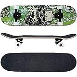 FunTomia Skateboard mit ABEC-11 Kugellager Rollenhärte 100A und 100% 7-lagigem kanadisches Ahornholz