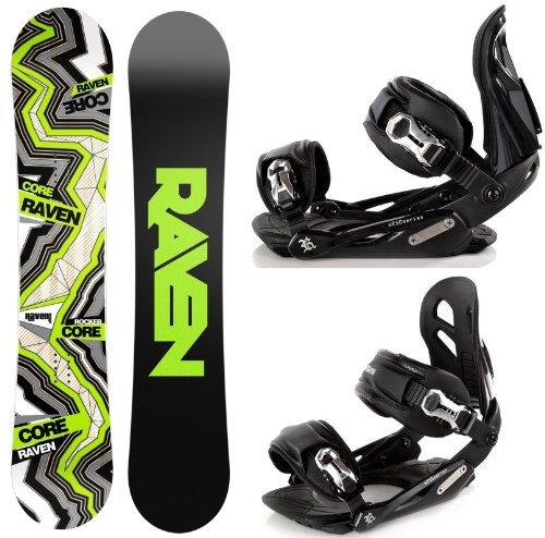 Snowboard Set: Snowboard Raven Core Carbon Rocker + Bindung Raven s250 Black M/L
