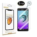 Samsung Galaxy A3 2016 Pellicola vetro temperato - RE3O® 3 x Pellicola protettiva vetro temperato protezione schermo per Samsung Galaxy A3 2016 4,7'' pollici, Facile da applicare, senza bolle d'aria, Bordo rotondo elegante 2.5D, Durezza 9H, Elevata trasparenza