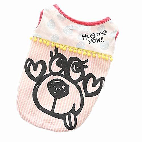 PZSSXDZW Haustierhundekostüm Hundet-Shirt 2019 Sommer Lässiges Hundet-Shirt Mode Baumwolle Haustier T-Shirt,Rosa,M -