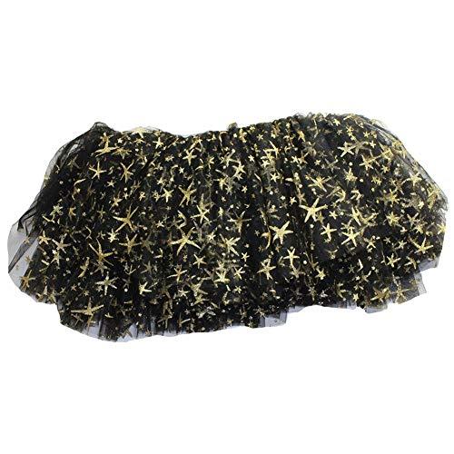 Ruiting Mädchen Tüll Tutu Black Star-Muster-Kind-Partei-Kostüm-Kind-Kleidung funkt Ballettrock Petticoat Produkt für zu Hause (Black Rock Star Kostüm)