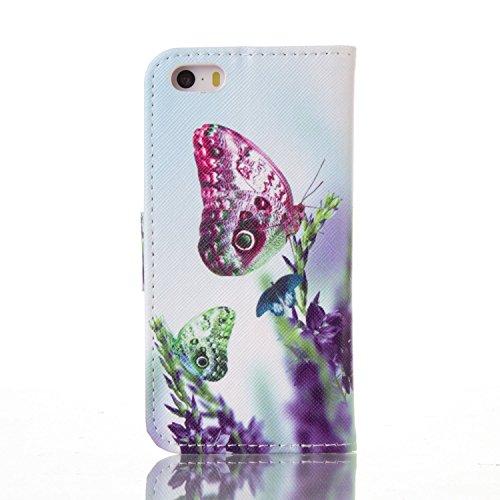 PU Silikon Schutzhülle Handyhülle Painted pc case cover hülle Handy-Fall-Haut Shell Abdeckungen für Smartphone Apple iPhone 5 5S SE +Staubstecker (T7) 4