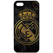 iPhone 5/5s FC carcasa de silicona, Real Madrid Logo iPhone 5/5s Funda, Real Madrid Funda Móvil