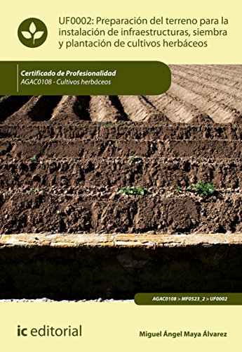 Preparación del terreno para la instalación de infraestructuras, siembra y plantación de cultivos herbáceos. AGAC0108 por Miguel Ángel Maya Álvarez