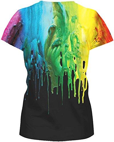 TDOLAH Damen TShirt 3D Print Shirt Tee Paar Kostüm Fasching Weltraum ...