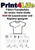 10 Blatt DIN A4 T-Shirt Transfer-Folie Transferpapier für helle Textilien