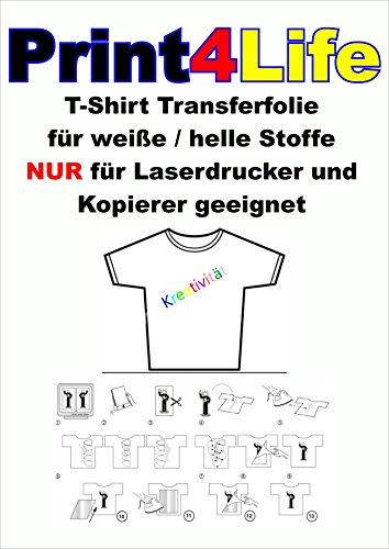 25 fogli di formato A4 T-Shirt pellicola di trasferimento carta