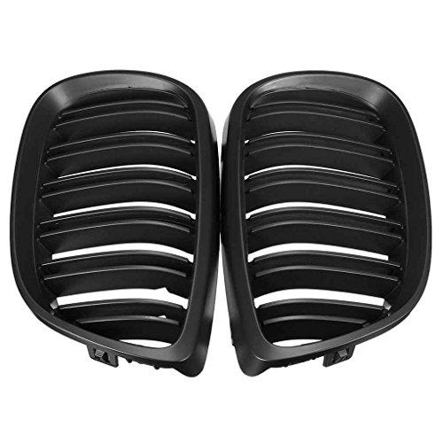 Preisvergleich Produktbild Meisijia 1 Paar Auto links rechts vorne Grill für 3er E92 E93 2 Tür 10-14 Doppel Linie Matte schwarz Nierengrills