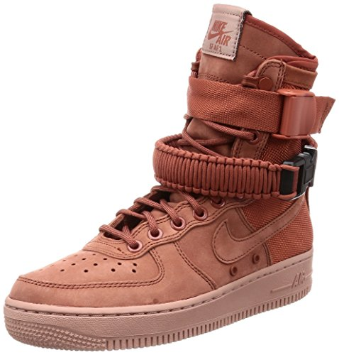 Nike Unisex Schuhe Wmns SF Air Force 1 Leder und Brauner Stoff 857872-202 (Braun Air Force 1)