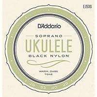 Daddario EJ53S Pro-Arte Rectificado Nylon Sopran Ukulele Saitensatz schwarz
