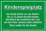 Spielplatzschild