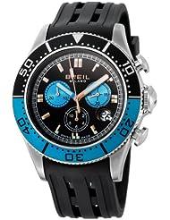 Breil BW0405 - Reloj cronógrafo de caballero de cuarzo con correa de goma negra (cronómetro) - sumergible a 100 metros