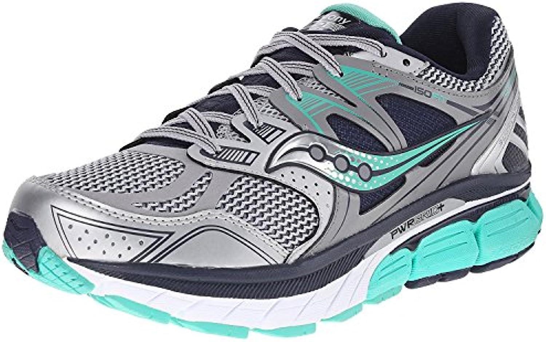 Saucony Women's Redeemer ISO Running Shoe, Plateado/Gris, 42 B(M) EU/8 B(M) UK