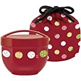Temari rabbit drawstring caf with bowl lunch box (Zhu) KPDN6 (japan import)