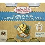 Babybio Pots Petits Pois Pomme de Terre/Cabillaud 400 g -