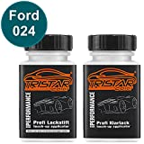 TRISTARcolor Autolack Lackstift Set Ford 024 Green/Blue / Dunkelgruen '64 Basislack Klarlack je 50ml
