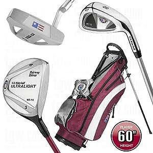 U.S. Kids Golf Starter-Set Ultralight 150-157 cm (60 Inch) RH/WEINROT/UL700