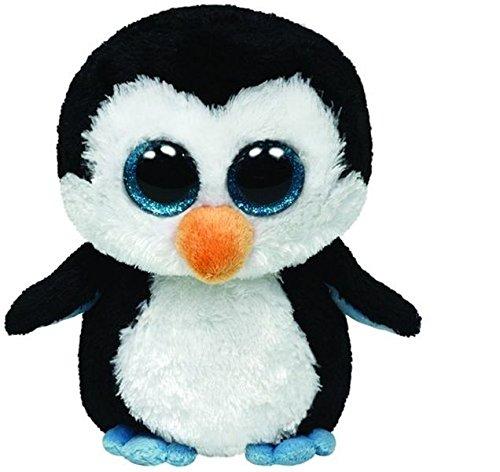 Ty Beanie Boos 36505 Waddles   Llavero clip con pingüino de peluche